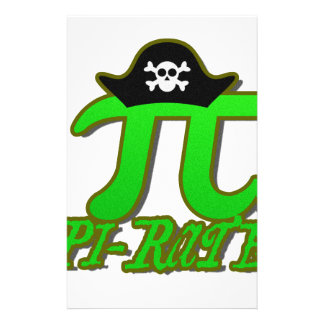 Funny Pirate Pi Stationery Paper
