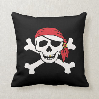 Funny Pirate Throw Pillow