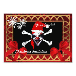 Funny pirate skull,  Christmas Card