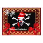 Funny pirate skull,  Christmas Personalized Announcement