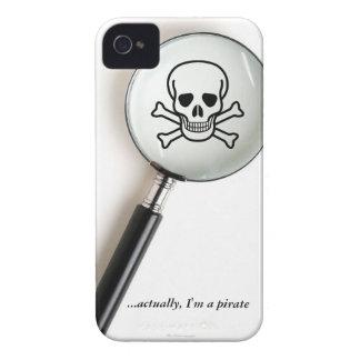Funny Pirate Skull Crossbones iPhone 4 Case