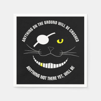 Funny Pirate Smiling Cat With An Eye Patch Paper Napkin