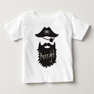 Funny Pirate with Eyepatch Arrrgh! Baby T-Shirt