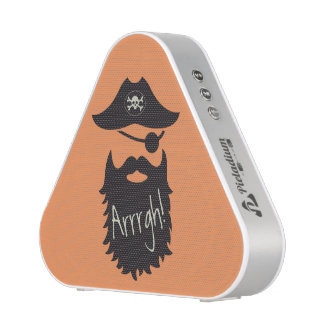 Funny Pirate with Eyepatch Arrrgh! Bluetooth Speaker