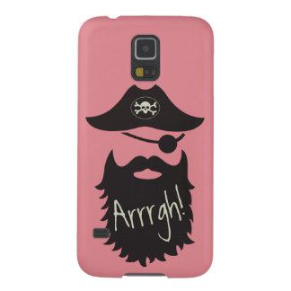 Funny Pirate with Eyepatch Arrrgh! Galaxy S5 Cases