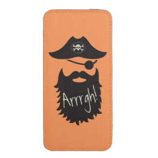 Funny Pirate with Eyepatch Arrrgh! iPhone SE/5/5s/5c Pouch