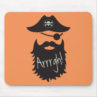 Funny Pirate with Eyepatch Arrrgh! Mouse Pad