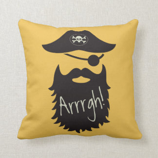 Funny Pirate with Eyepatch Arrrgh! Pillow