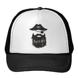 Funny Pirate with Eyepatch Arrrgh! Trucker Hat