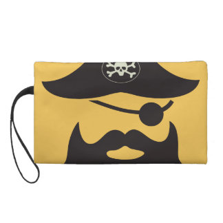 Funny Pirate with Eyepatch Arrrgh! Wristlet