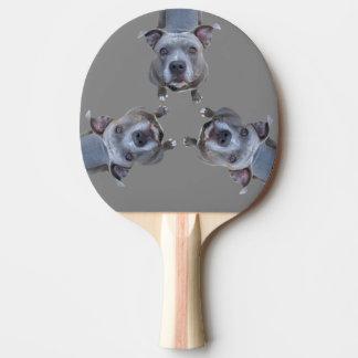 Funny Pitbull Ping Pong Paddle