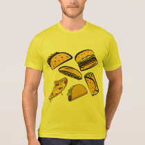 funny pizza and tacos gift for food lovers T-Shirt