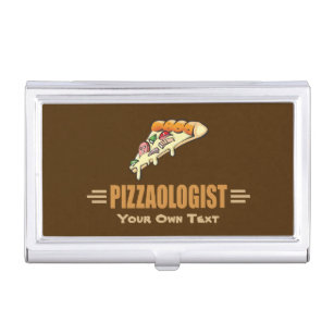 Funny business card holders cases zazzle funny pizza business card holder colourmoves