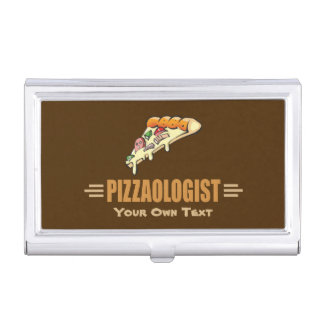 Funny Pizza Business Card Holder