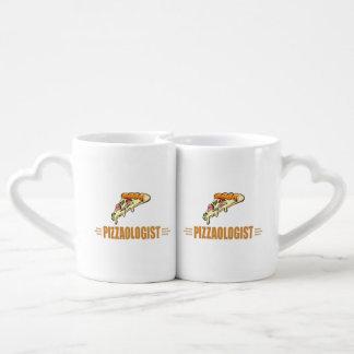 Funny Pizza Coffee Mug Set