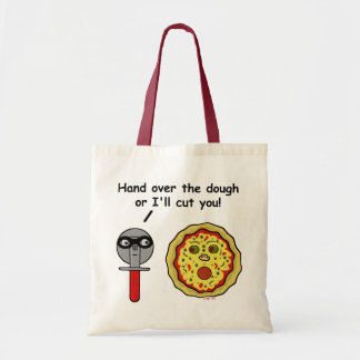 Funny Pizza Cutter Dough Pun Tote Bag