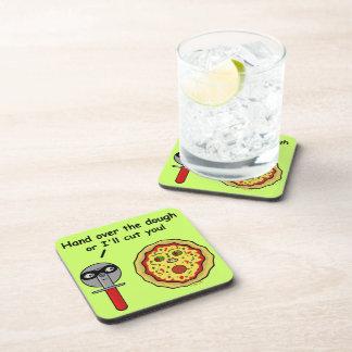 Funny Pizza Cutter Dough Pun Coaster