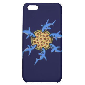 Funny pizza eating sharks cartoon art iphone case case for iPhone 5C