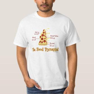 Funny Pizza Food Pyramid T-Shirt