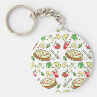 funny pizza pattern vol1 keychain