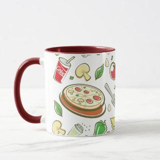 funny pizza pattern vol1 mug
