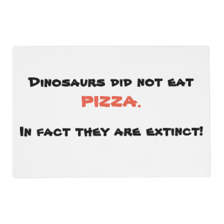 Funny pizza placemat