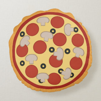 Funny Pizza Round Pillow