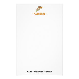 Funny Pizza Stationery Paper