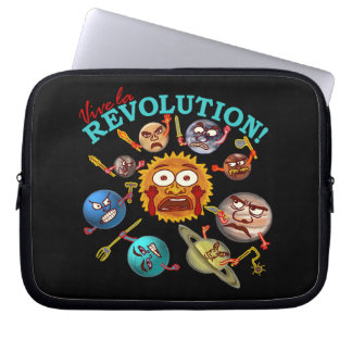 Funny Planet Revolution Computer Sleeves