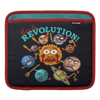 Funny Planet Revolution iPad Sleeve