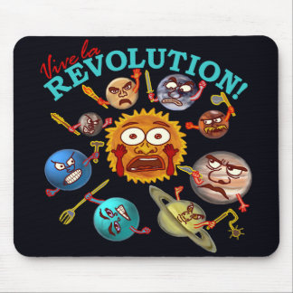 Funny Planet Revolution Mouse Pad