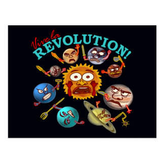 Funny Planet Revolution Postcard