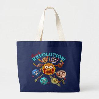 Funny Planet Revolution Solar System Cartoon Bags