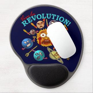 Funny Planet Revolution Solar System Cartoon Gel Mouse Pad