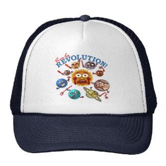 Funny Planet Revolution Solar System Cartoon Trucker Hat