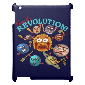 Funny Planet Revolution Solar System Cartoon iPad Case