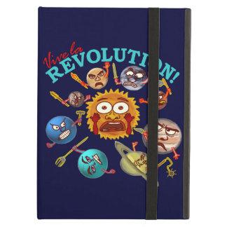Funny Planet Revolution Solar System Cartoon iPad Air Cases