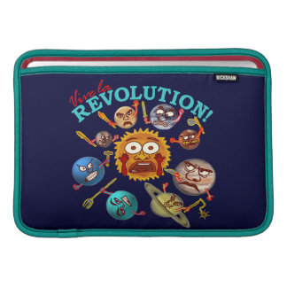 Funny Planet Revolution Solar System Cartoon Sleeves For MacBook Air