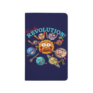 Funny Planet Revolution Solar System Cartoon Journal