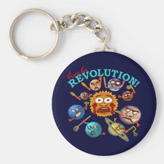 Funny Planet Revolution Solar System Cartoon Key Chains