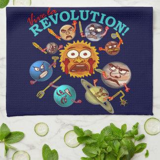 Funny Planet Revolution Solar System Cartoon Towels
