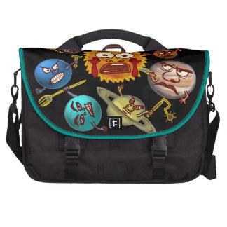 Funny Planet Revolution Solar System Cartoon Laptop Computer Bag