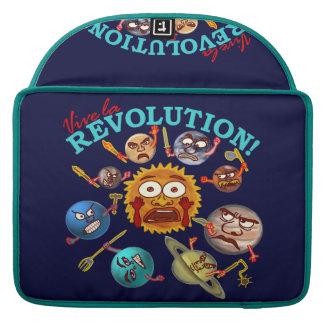 Funny Planet Revolution Solar System Cartoon MacBook Pro Sleeves