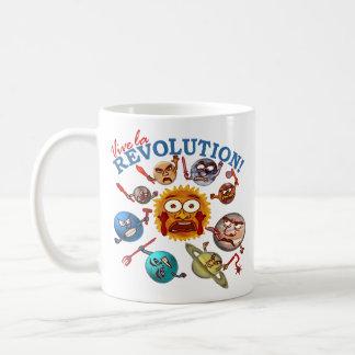Funny Planet Revolution Solar System Cartoon Classic White Coffee Mug