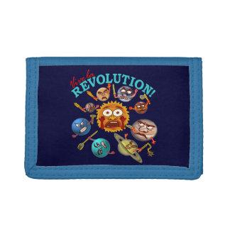 Funny Planet Revolution Solar System Cartoon Wallets