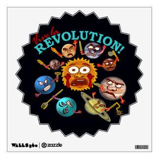 Funny Planet Revolution Wall Sticker