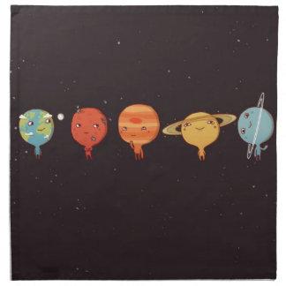 Funny planet servilleta imprimida