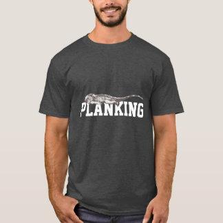 Funny Planking Iguana Dark T-Shirt