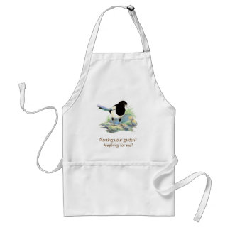 Funny, Planting a Garden?Cute Magpies Gardening Adult Apron