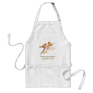 Funny, Planting a Garden?Cute Sparrow Gardening Adult Apron